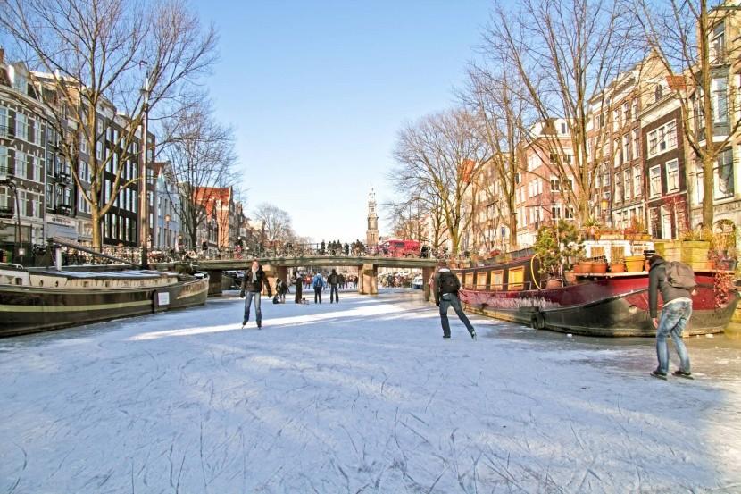 Zimní Amsterdam
