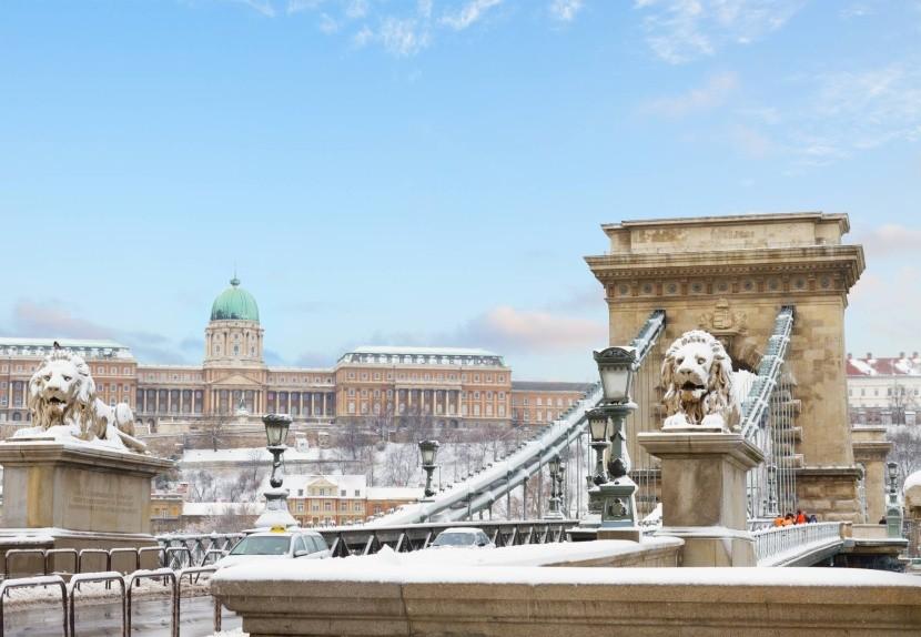 Zimní Budapešť