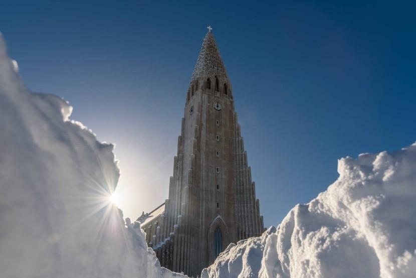 Zimní Reykjavík