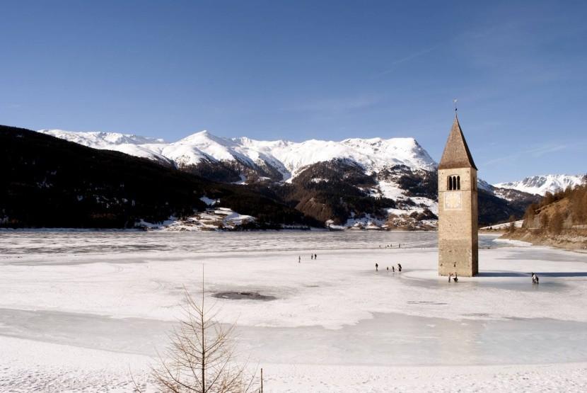 Zamrzlé Lago di Resia
