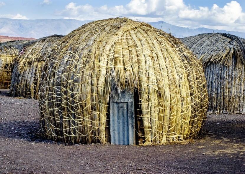Osada kmene El Molo u jezera Turkana
