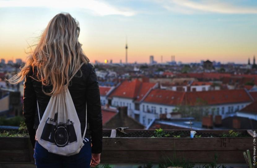 Pohled na panorama Berlína