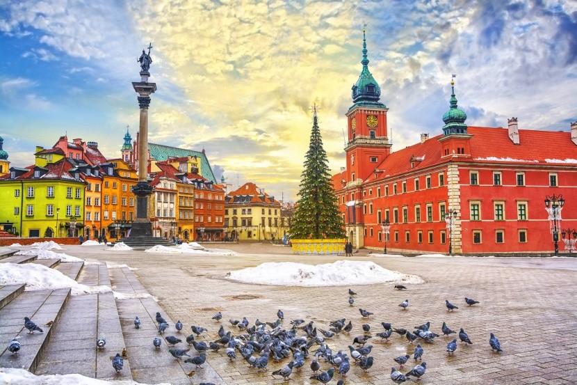 Zimní Varšava