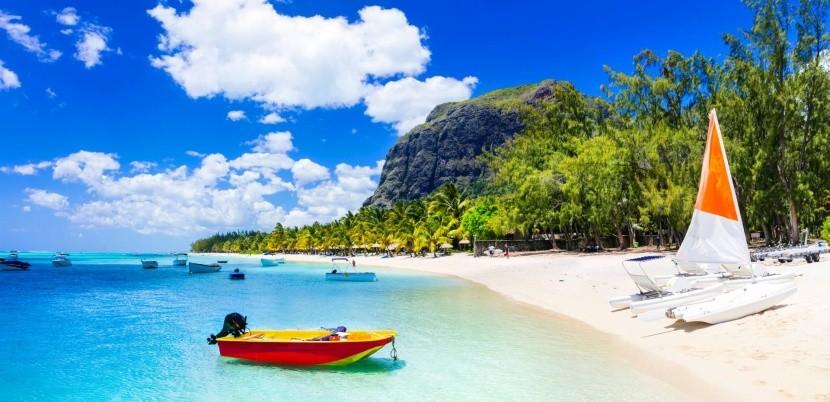 Pláž na Mauriciu