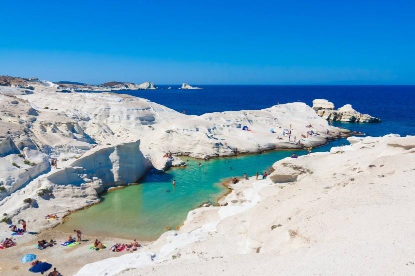 Pláž Sarakiniko, Milos, Řecko