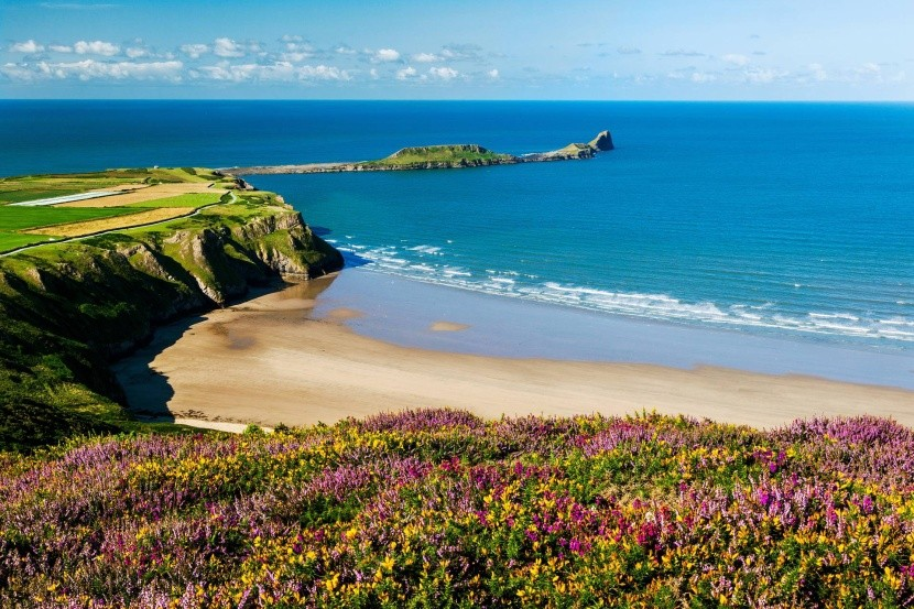 Rhossili Bay, Wales, Velká Británie