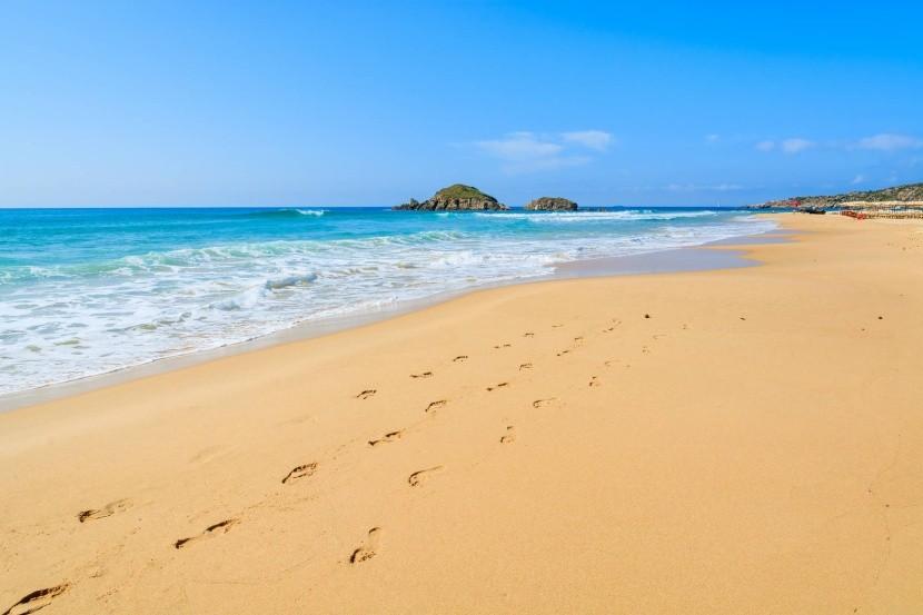 Chia beach, jižní Sardinie, Itálie