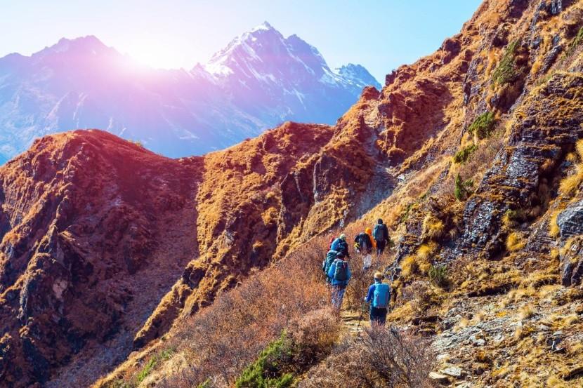 Turisté v Himaláji