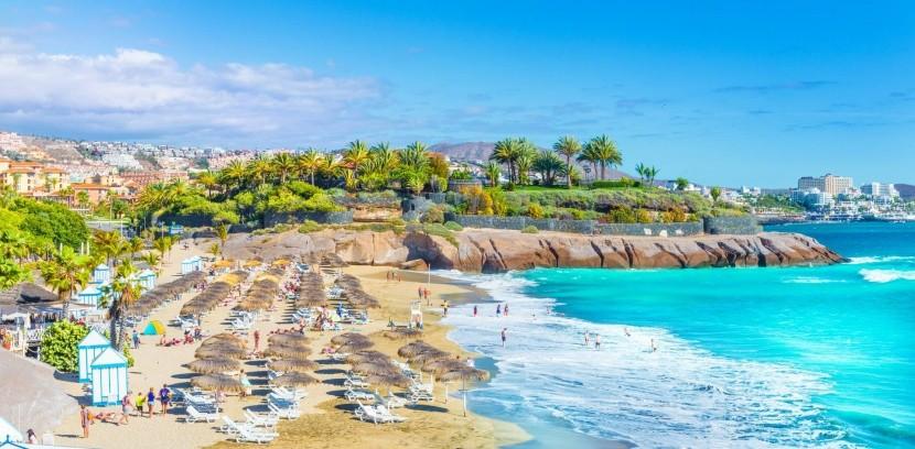 Pláž El Duque na Costa Adeje