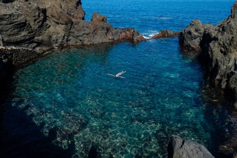Přírodní bazén na Tenerife