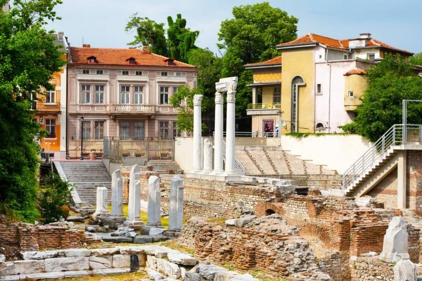 Antické fórum sodeonem, Plovdiv