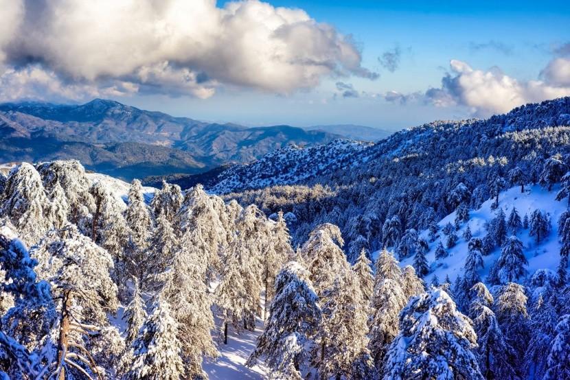 Pohoří Troodos v zimě