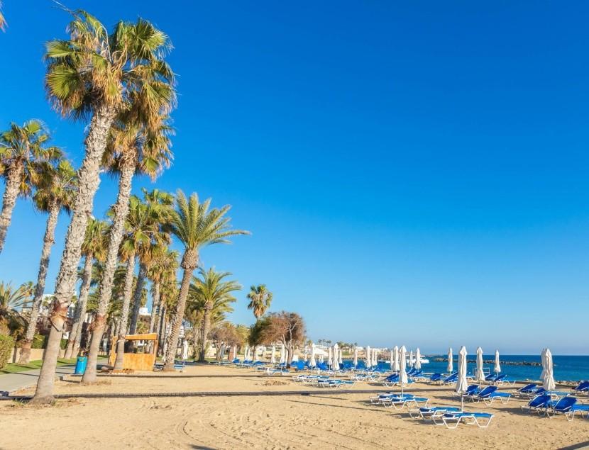 Pláž v Pafosu