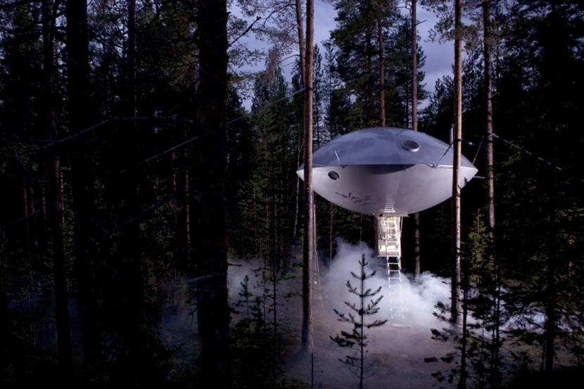 Ufo, Treehotel, Švédsko