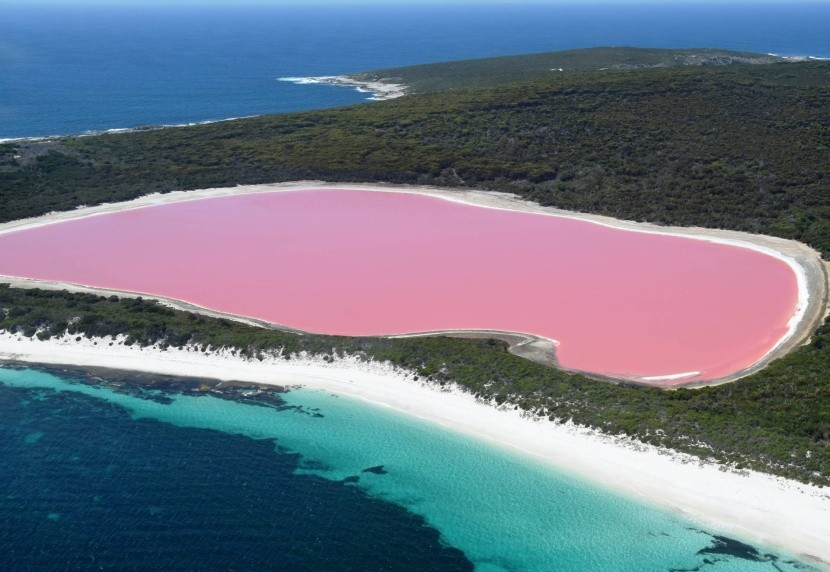 Jezero Hillier, Austrálie