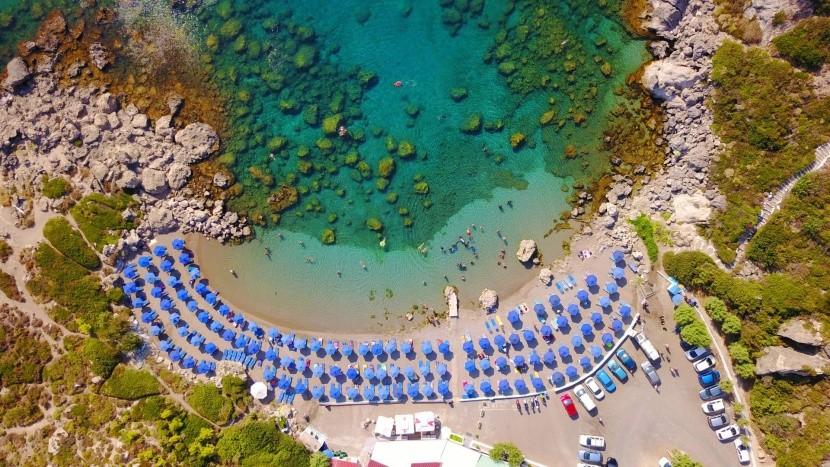 Pláž Ladiko, Rhodos