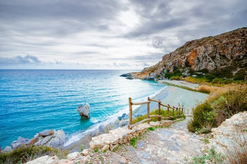 Pláž Preveli, jižní Kréta