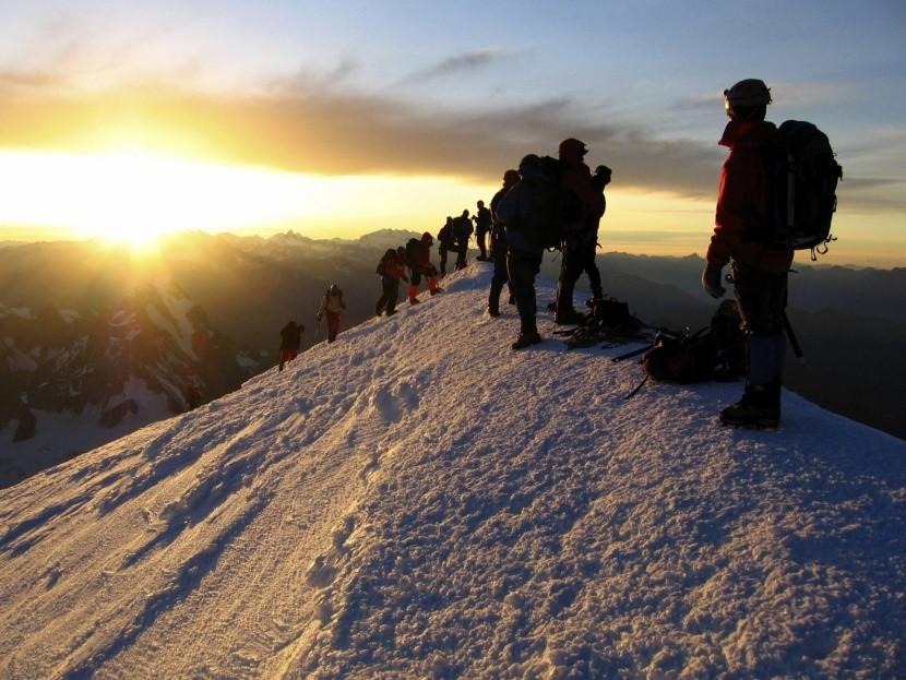 Na vrcholu Mont Blanc