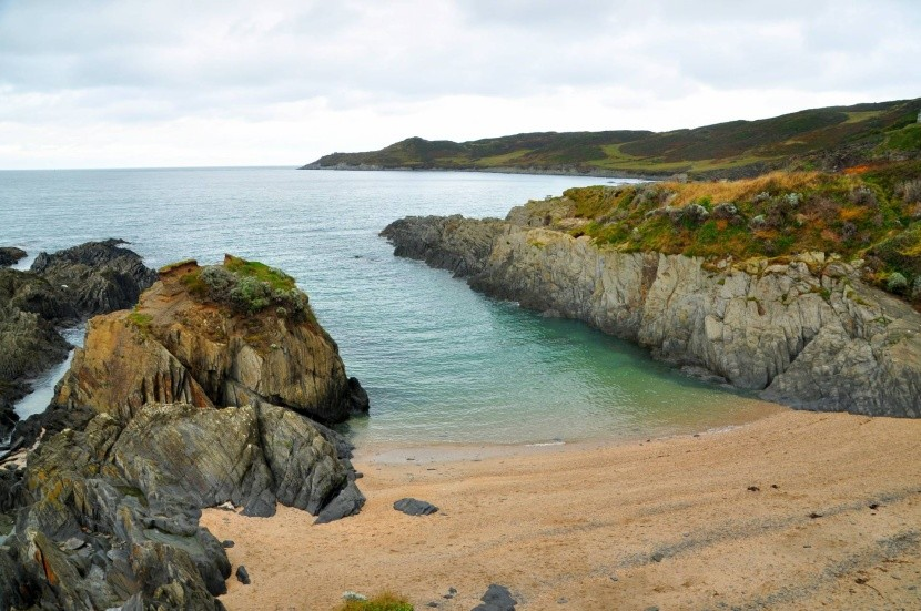 Barricane Beach, Devon, Anglie