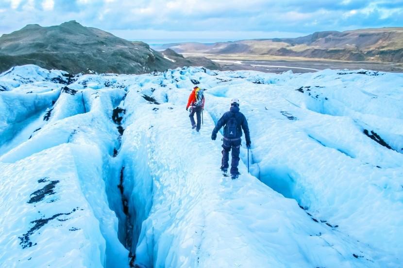 Turistika na islandském ledovci