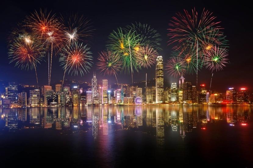 Ohňostroj nad Hongkongem