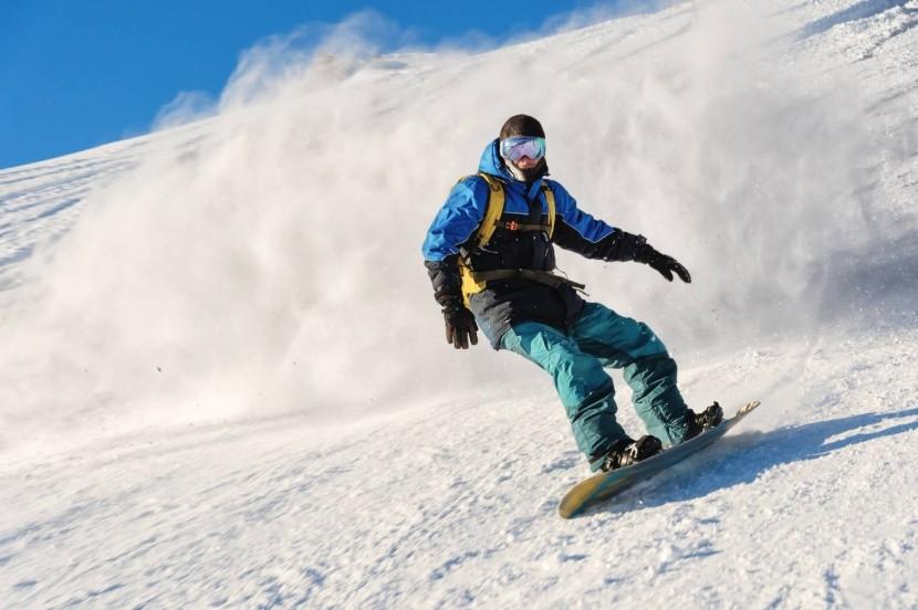 Snowboarding v Suldenu