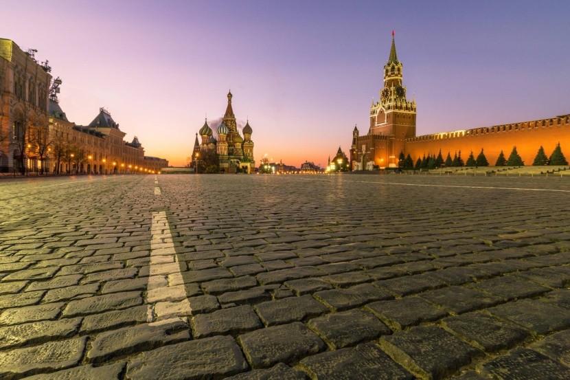 Rudé náměstí za soumraku