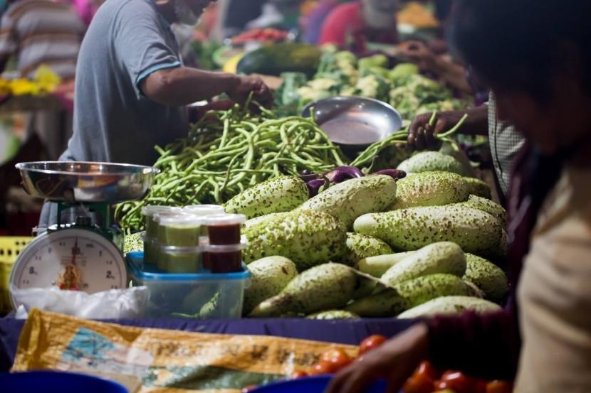 Zeleninový trh na Mauriciu