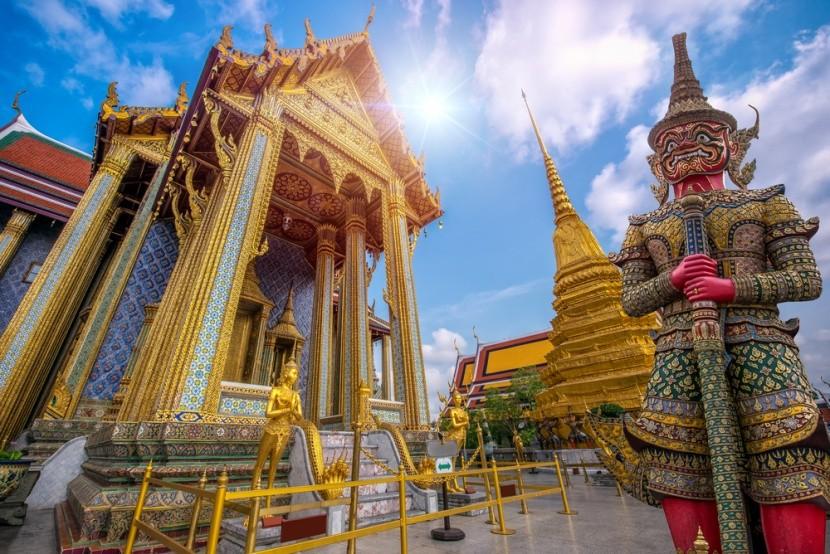 Chrám Wat Phra Kaew v Thajsku