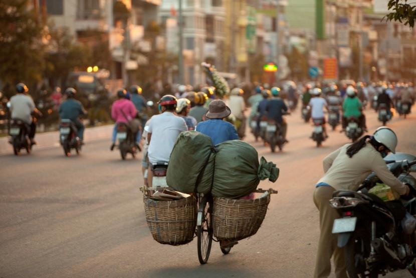 Rušné ulice Hanoje