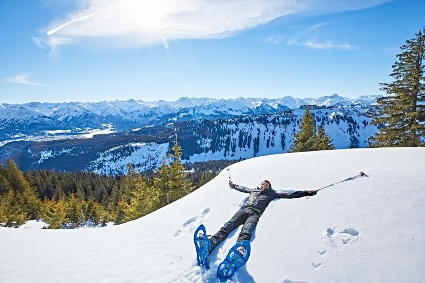 Armin Kling na túře se sněžnicemi
