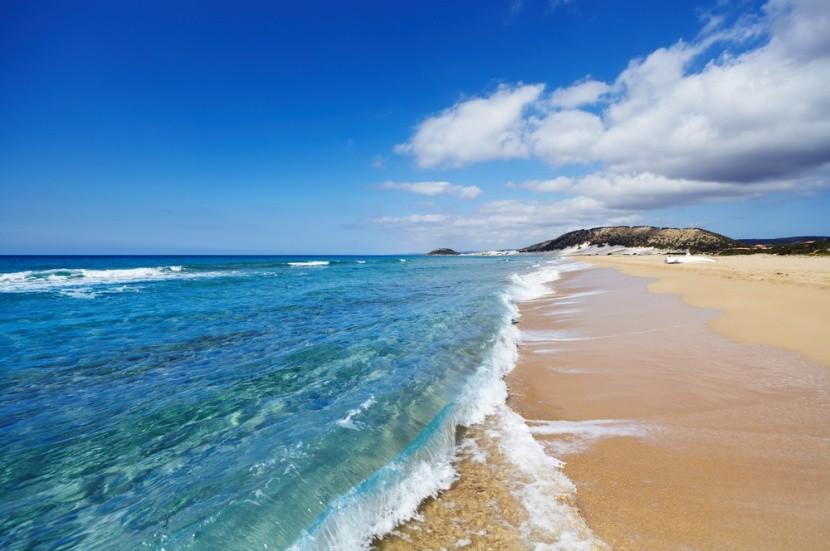 Golden Beach v severní části Kypru