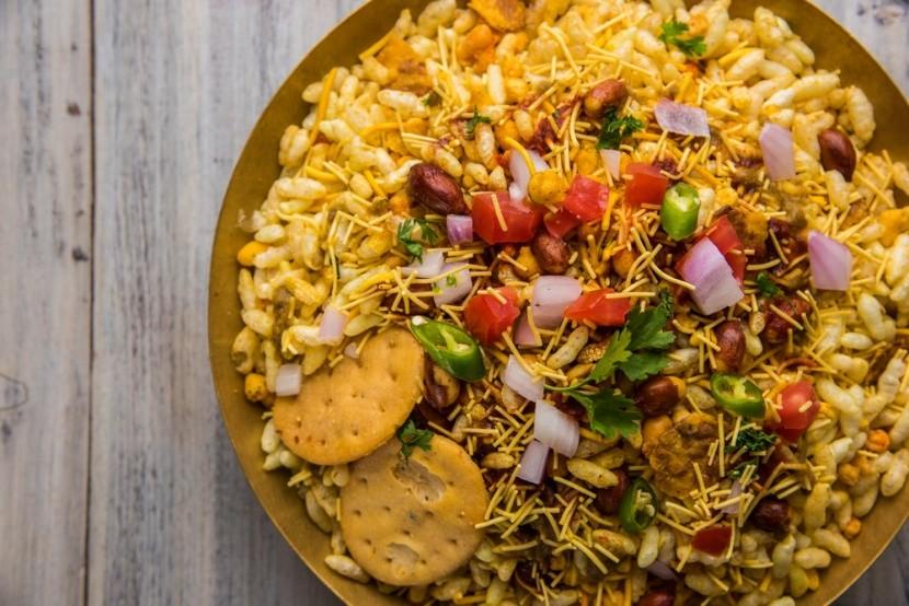 Chutný indický pokrm Bhel Puri