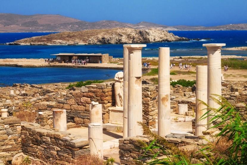 Ostrov Délos, Mykonos