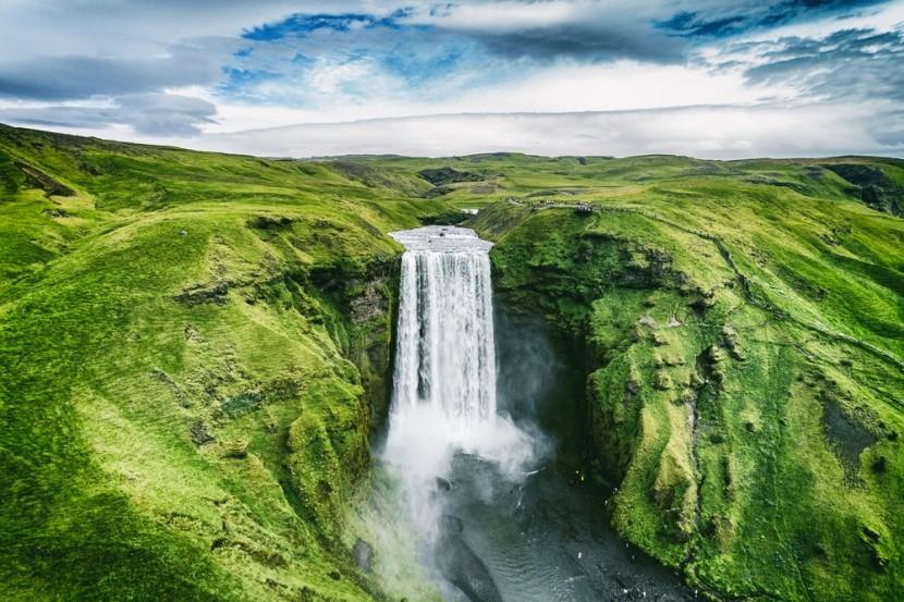 Vodopád Skogafoss, Island