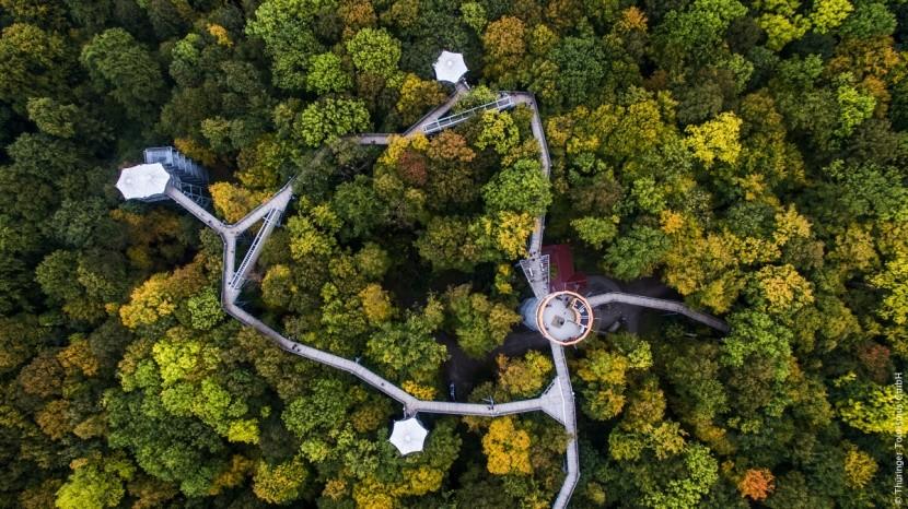 Stezka korunami stromů v Durynsku