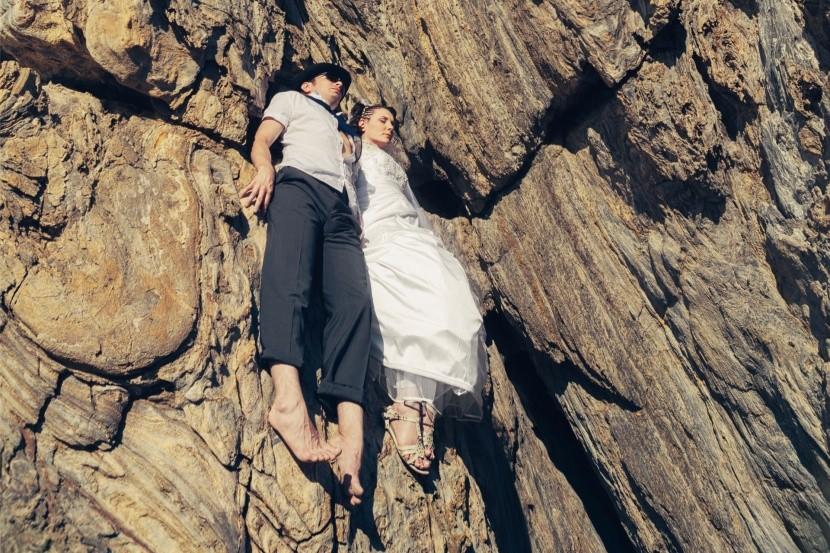 Adrenalin: Nevěsta se ženichem na skále