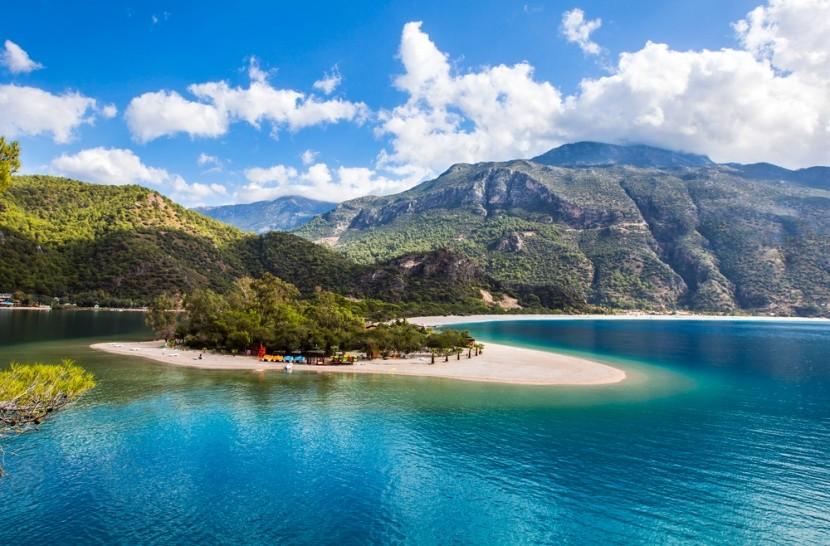 Pláž alias Modrá laguna v Turecku