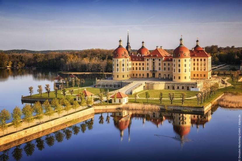 Zámek Moritzburg v Sasku, Německo