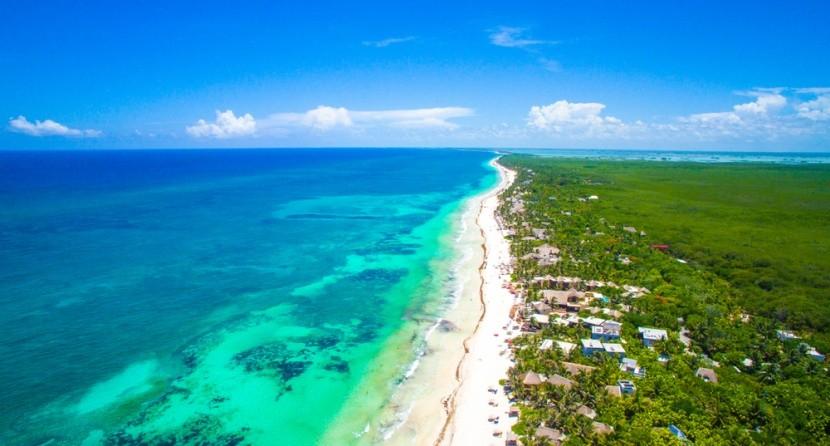 Pláž Tulum, Mayská riviéra, Mexiko