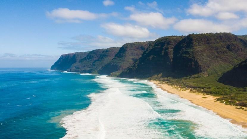 Pláž Polihale, Havaj, USA