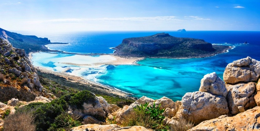 Záliv Balos na řeckém ostrově Kréta