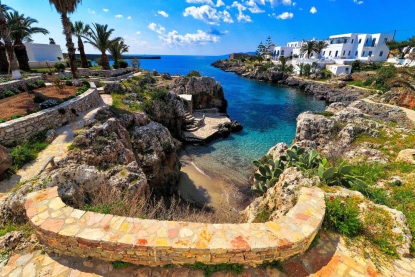 Vesnička na pobřeží řeckého ostrova Kythira