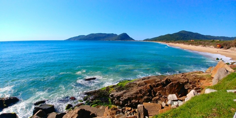 Pláž Joaquina, Florianópolis, Brazílie