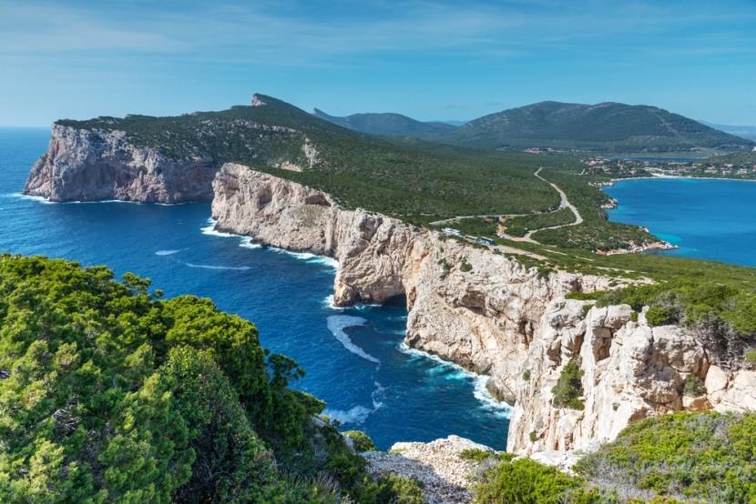 Božské útesy na Sardinii