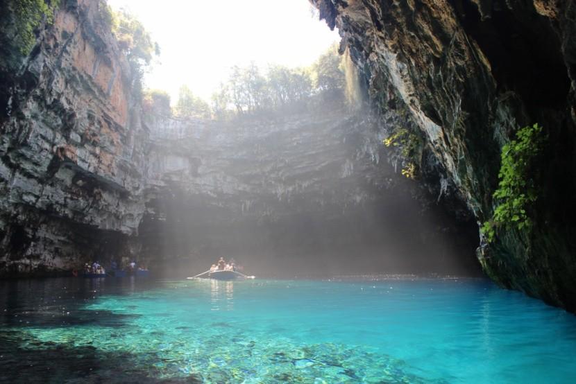 Jeskyně Melissani, Kefalonie