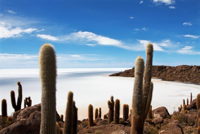 Solná pláň Salar de Uyuni, Bolívie