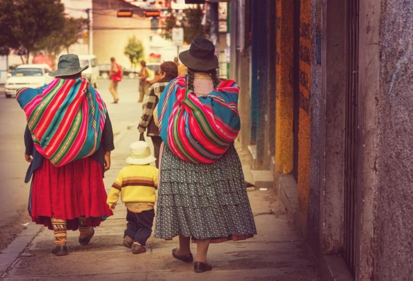 Bolívijské ženy v La Paz