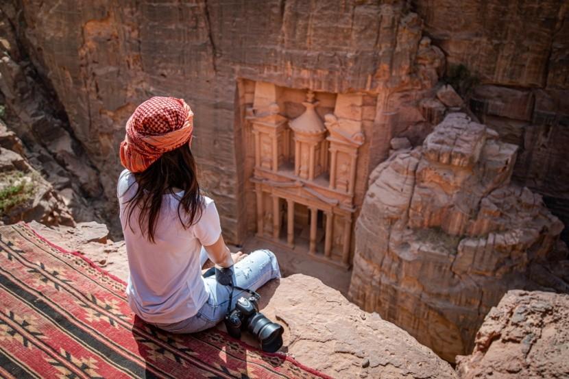 Skalní město Petra v Jordánsku