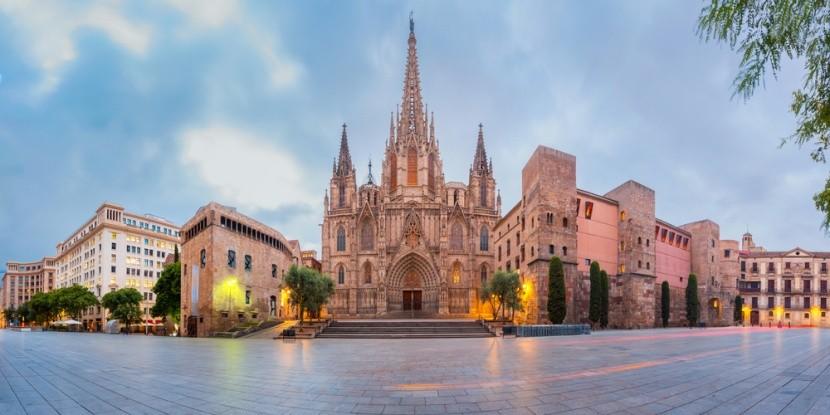 Katedrála ve španělské Barceloně